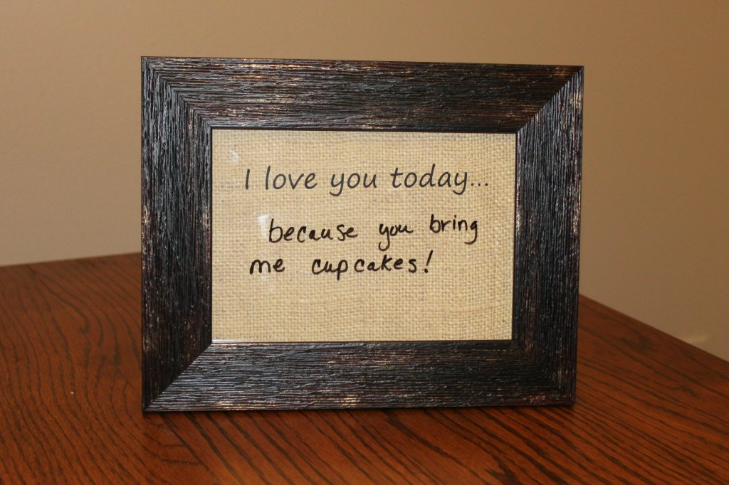 Dry Erase Message Frame