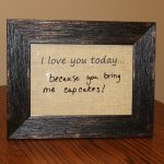 Dry Erase Daily Love Message Frame