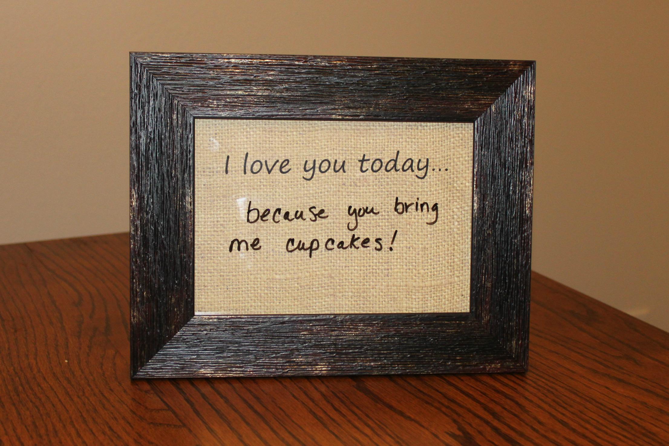 Dry Erase Message Frame