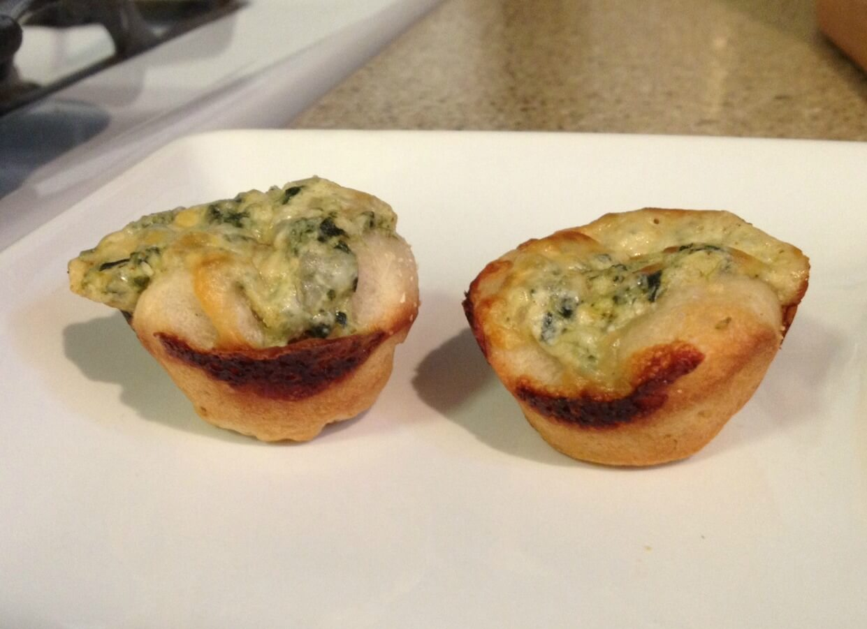 Mini Baked Spinach Dip Cups