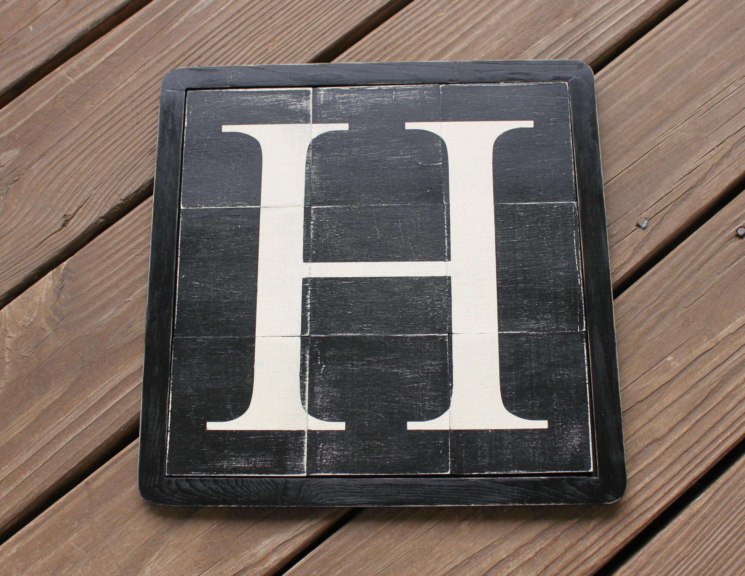 Vintage Wood Tile Letter