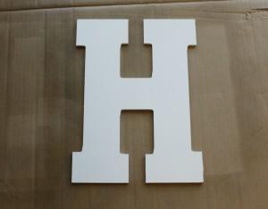aged monogram bare letter