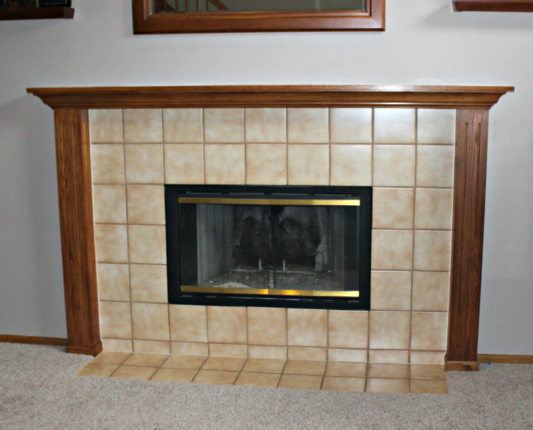 Oak mantel makeover sometimes homemade
