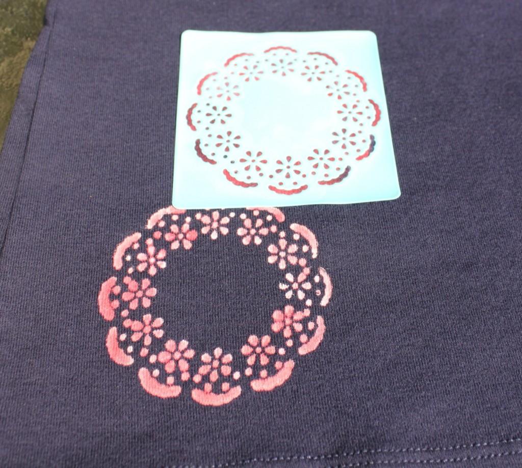 bleach pen t-shirt - wash stencils in between