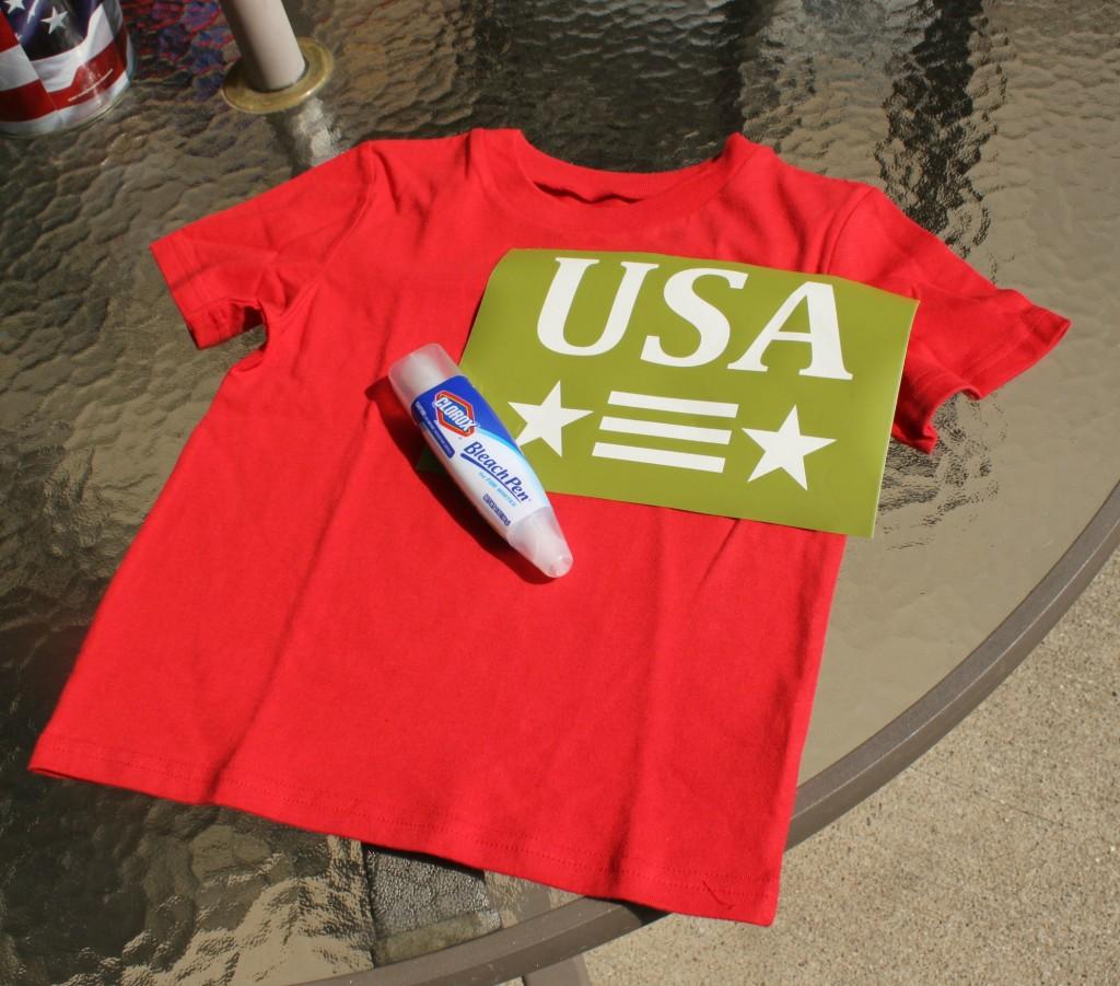 Bleach Pen T-shirt supplies