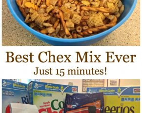 Truly the Best Chex Mix ever and it's done in just 15 minutes. Variation on the classic Chex Mix recipe.
