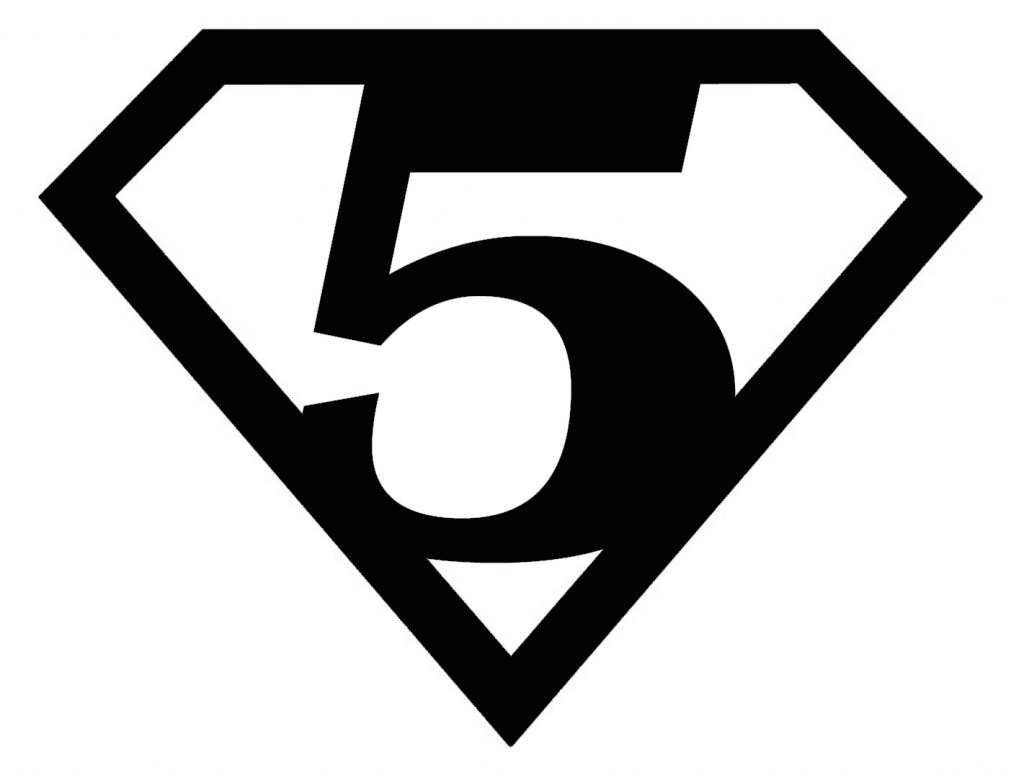 Superman logo with numbers - free printables!