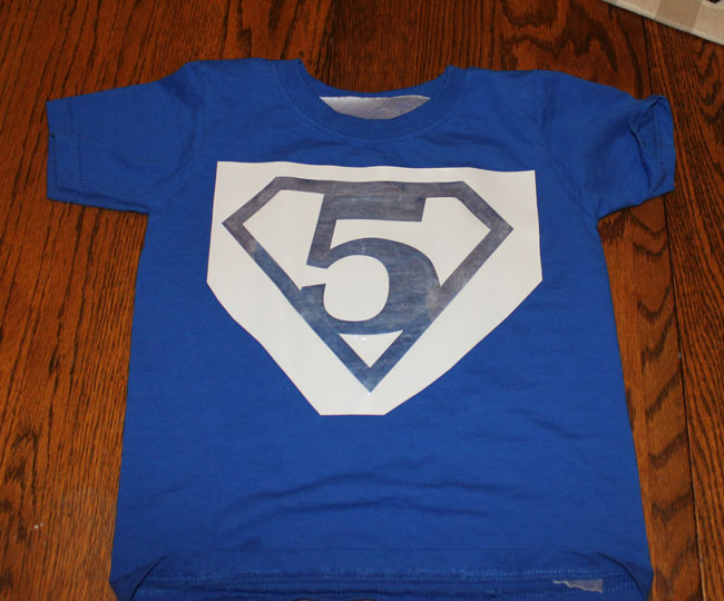 Superman number shirt  - get the free stencils!