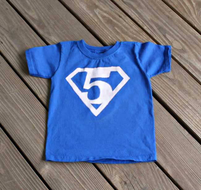Superman Birthday Shirt with Number - free printables!