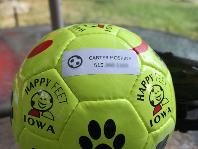 Make Your Own Waterproof Sports Labels (Soccer ball)