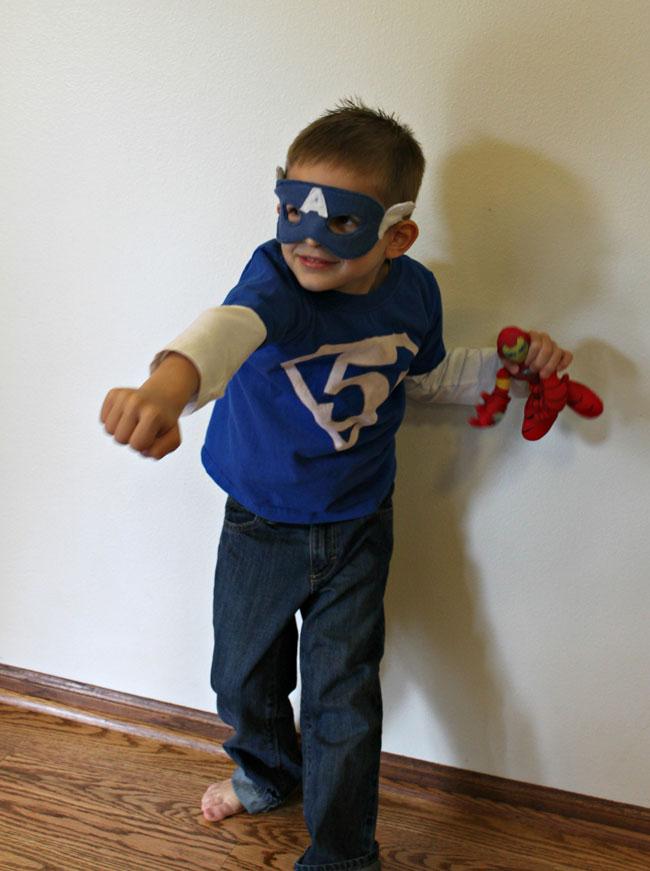 Captain America Felt Mask