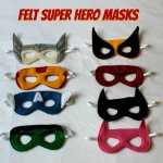 Felt Superhero Masks