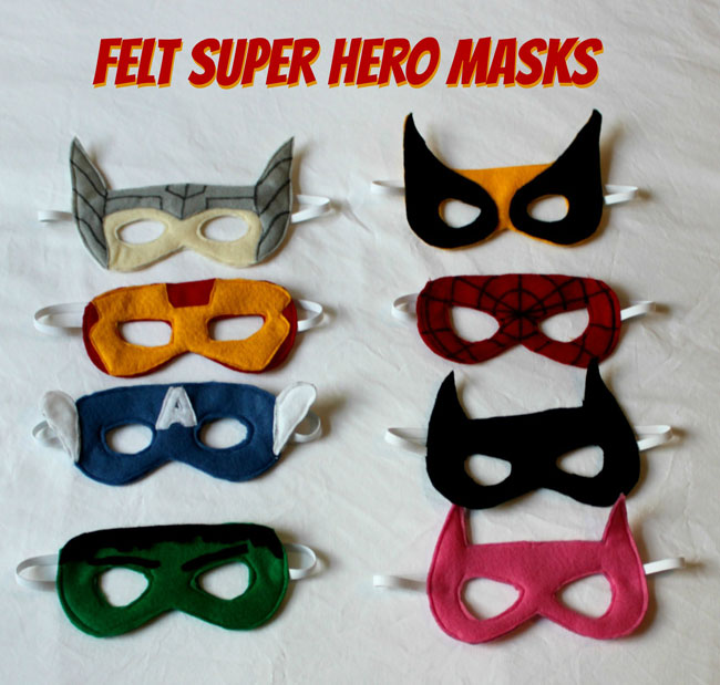 Felt Superhero Masks - Sometimes Homemade
