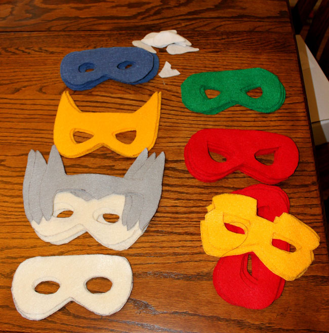 Felt Superhero Masks  Sometimes Homemade