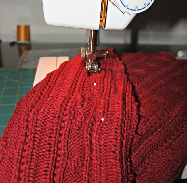 sweater tree -sew seam