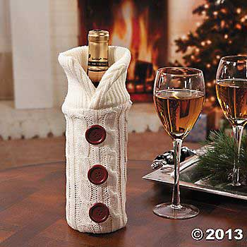 Wine Bottle Sweater Bag - Terry's Village