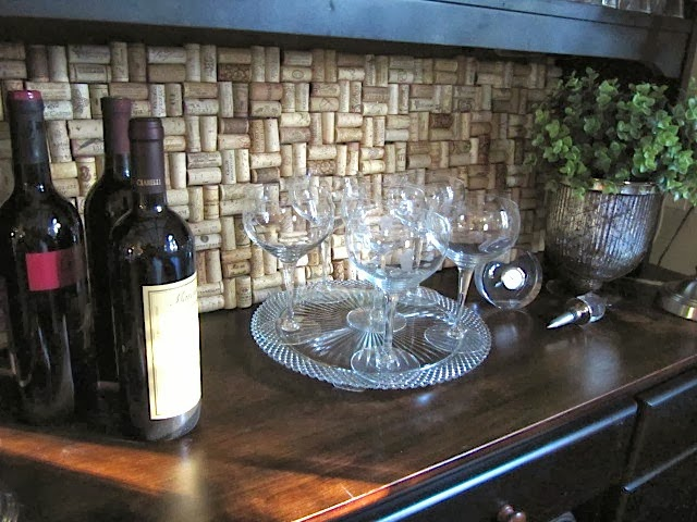 Wine Cork Backsplash - Sew Many Ways