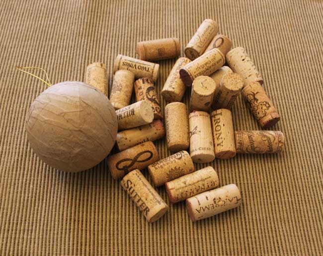 Wine Cork Ball - supplies