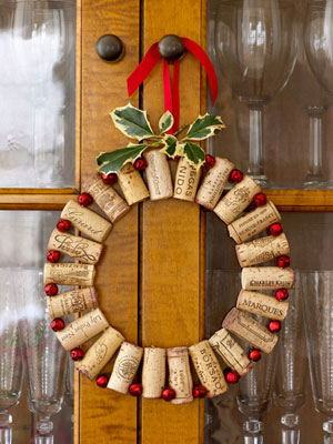 Wine Cork Wreath - Good Housekeeping