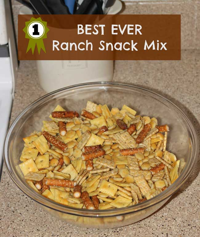 Best Ever Ranch Snack Mix