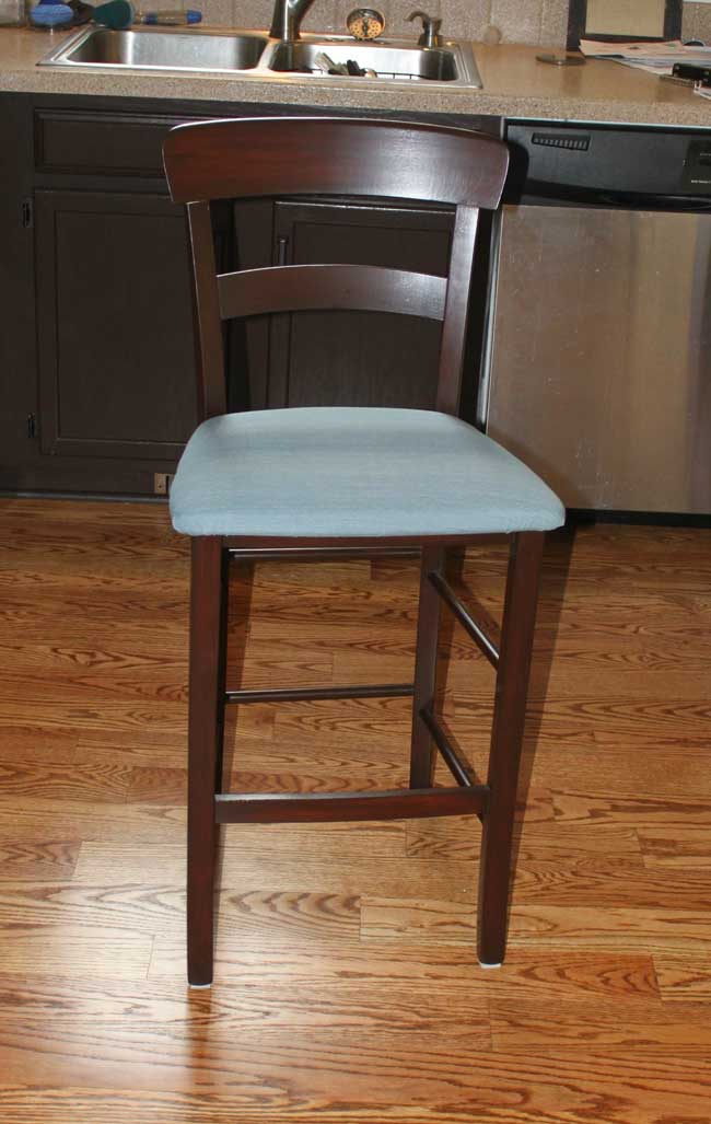 Bar stool makeover - finished
