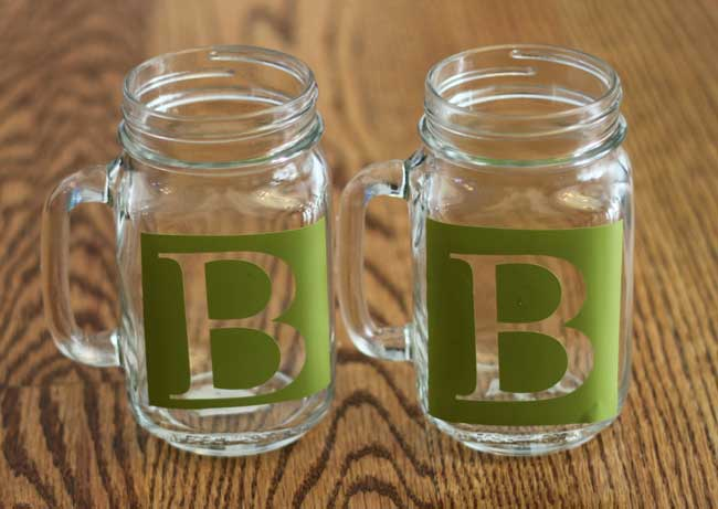 DIY Etched Mason Jars