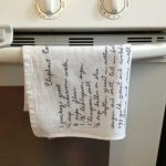 Handwritten Recipes Printed on Tea Towels