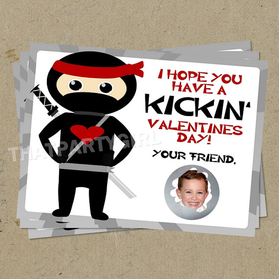 ninja scratch-off valentines