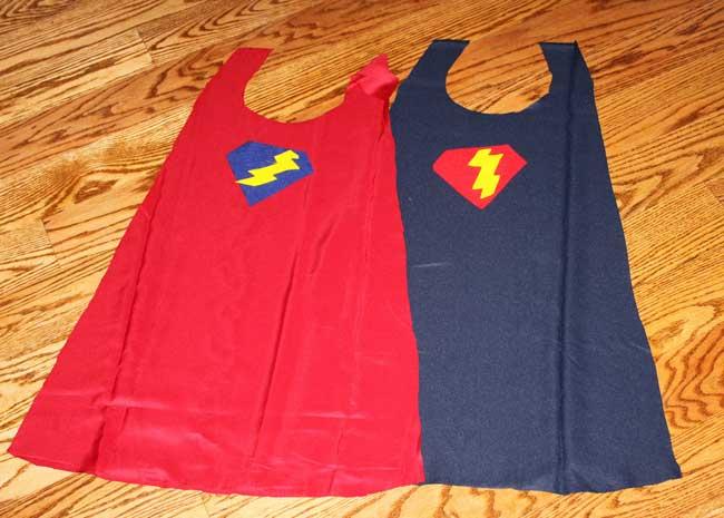 super hero capes - cutout fabric