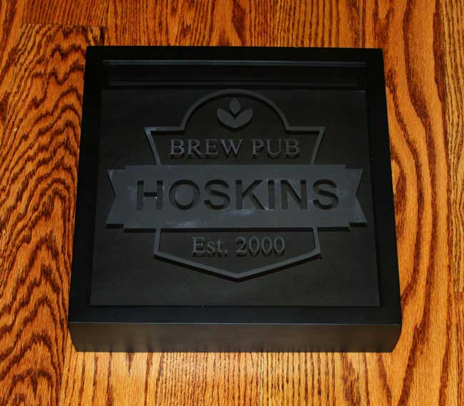 Beer Coaster Holder Shadow Box - glass etching before cleaning