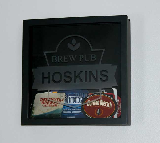 Beer Coaster Shadow Box - create a keepsake of favorite beers and breweries. Perfect DIY gift for the beer lover.