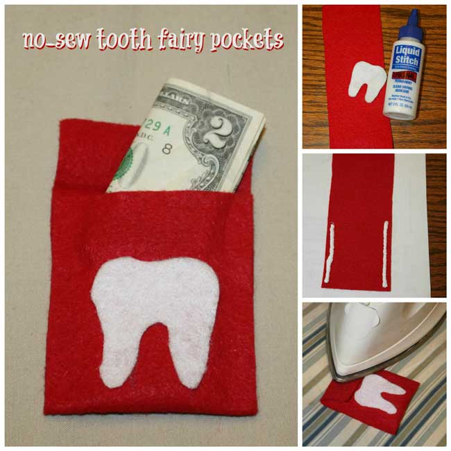 No Sew Tooth Fairy Pockets