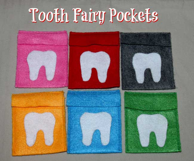 Tooth Fairy Pockets (easy sew and no-sew directions)