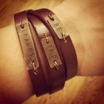 Inspiration Metal Stamped Wrap Bracelet