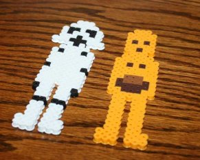 Star Wars craft with Perler Beads