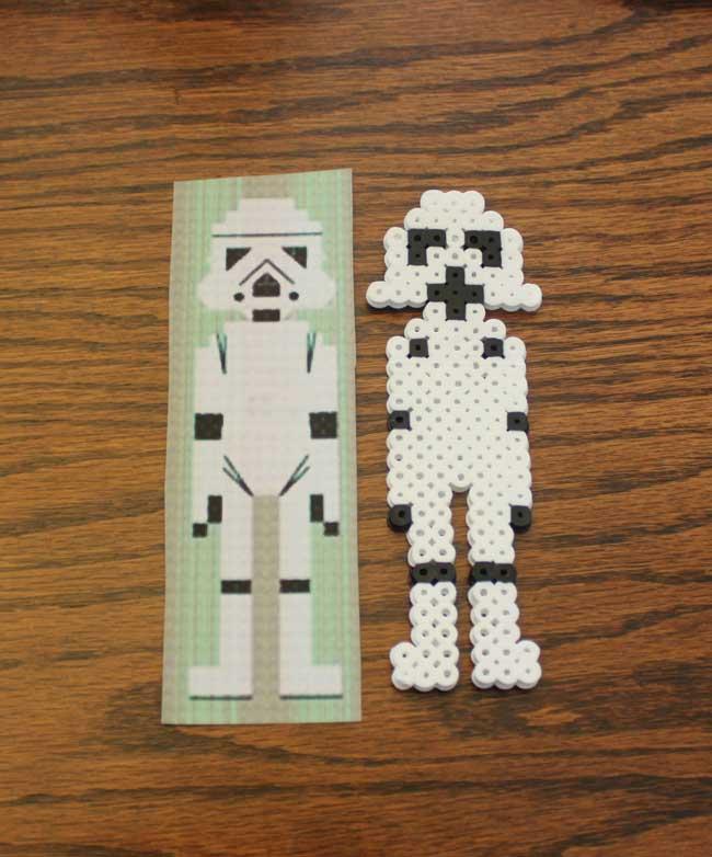Perler Bead Storm Trooper