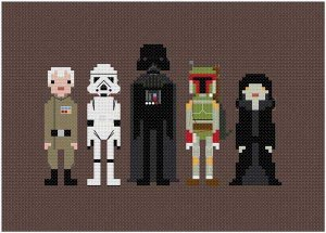 Pixel Star Wars pattern - wee little stitches