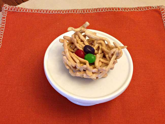Marshmallow Birds Nest Treats