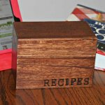 Custom Recipe Box using Wood Branding Letters