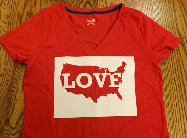 stencil-love-america-t-shirt