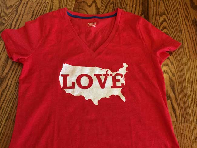 USA LOVE T-shirt