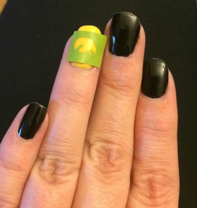 Nail Art Designs using a Silhouette - Sometimes Homemade