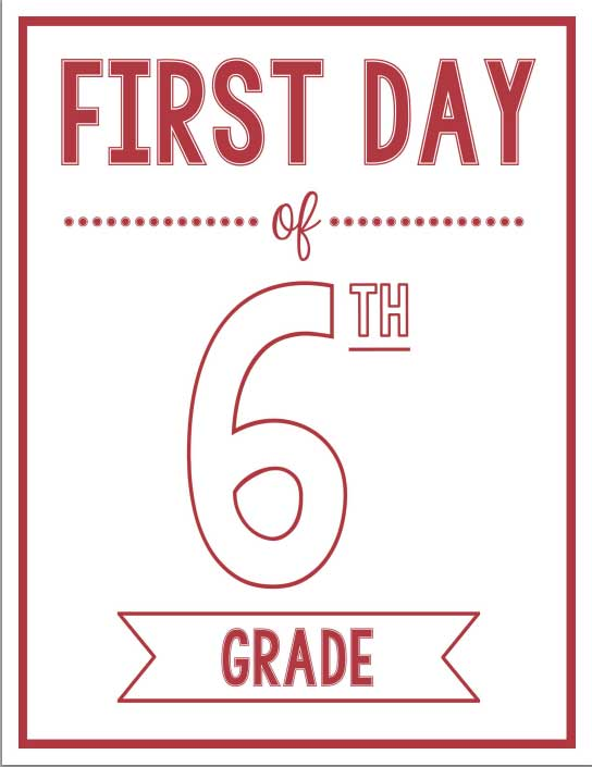 First Day of School Printables