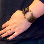 DIY Leather O-Ring Bracelet – Inspired by Joanna Gaines from Fixer Upper!