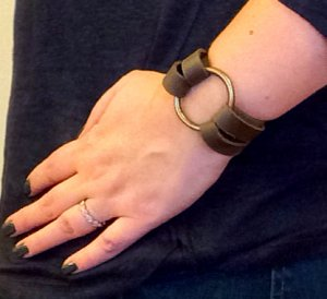 Leather O Ring Bracelet