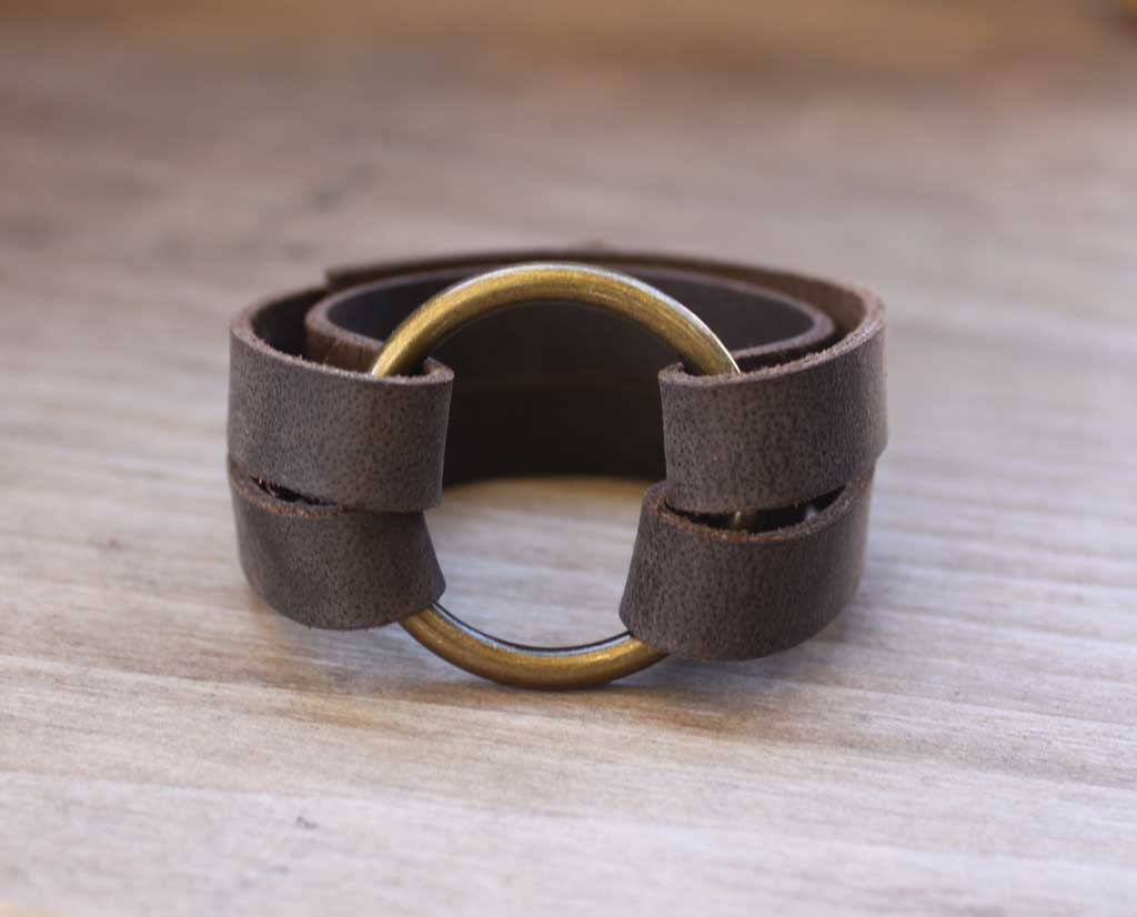 DIY Leather O-Ring Bracelet