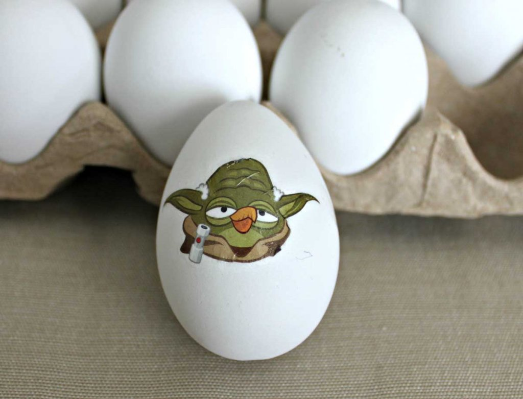 Temporary Tattoo Easter Eggs - Yoda Angry Bird