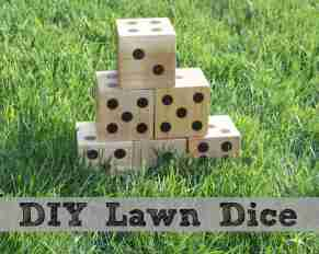 DIY Wooden Lawn Dice