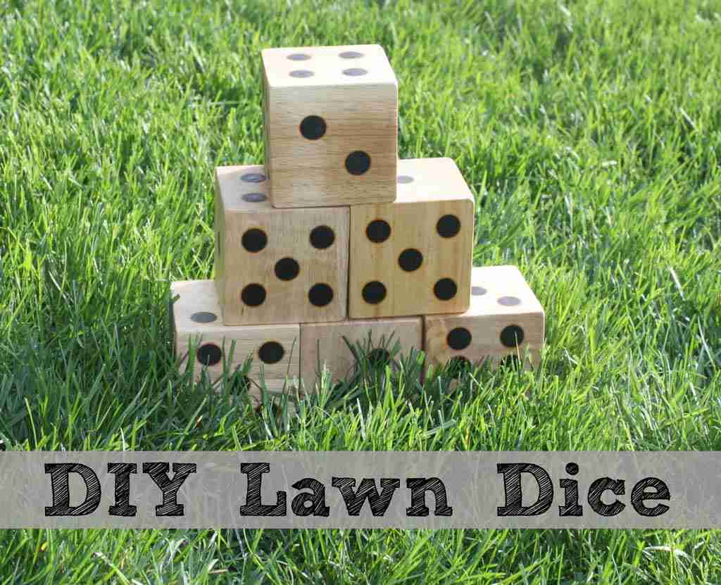DIY Wooden Yard Dice - Sometimes Homemade