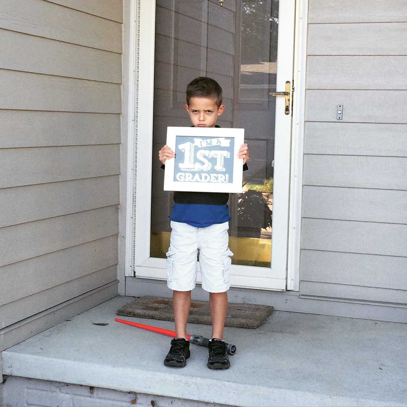 Mad First Day of School Picture